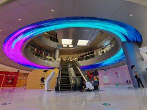 LED Ring im Einkaufszentrum