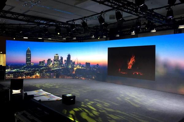 Messe Frankfurt Live-Streaming Studio Skyline