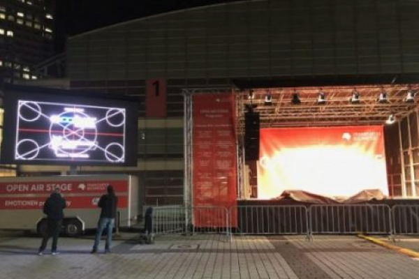 Buchmesse Outdoor LED