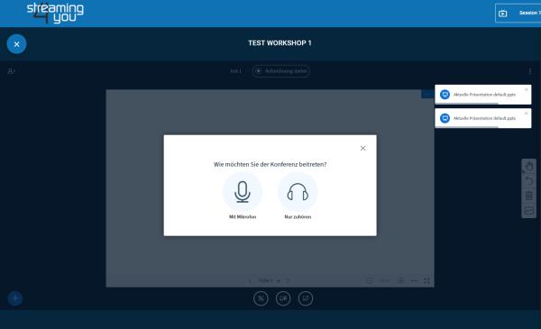 AVMS Virtual Workspace für Online Arbeitsgruppen - Der Einstieg