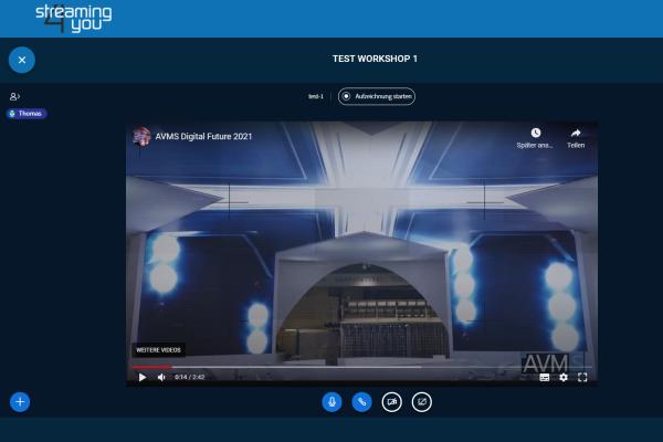 AVMS Virtual Workspace Videoeinspielung