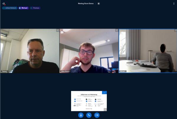 AVMS Virtual Workspace Videokonferenz