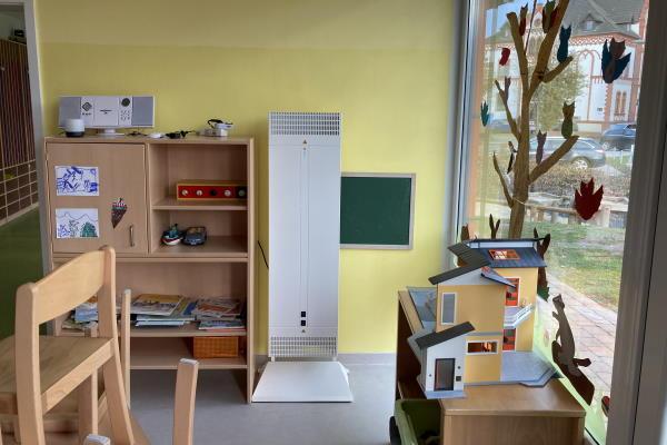 AirGUARD Cube 300 reduzieren Coronaviren in Kindergarten von Bad Hersfeld